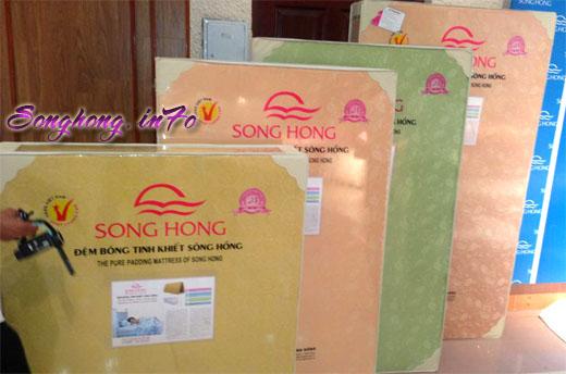 Bảng báo giá đệm bông ép tinh khiết Sông Hồng dòng cao cấp 2 tấm - vải gấm