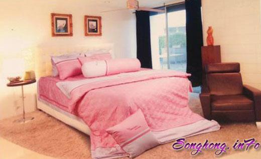 Bộ chăn ga gối Home H14 - 022, ga rèm 1.8 x 2.0m