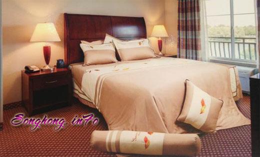 Bộ chăn ga gối dòng Home H14 - 017, ga rèm cho giường 1.6 x 2.0m