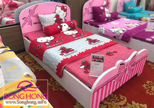 Chăn ga gối Hello Kitty K17 - 038