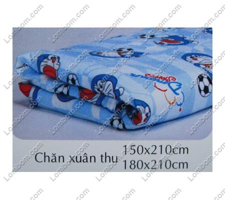 Chăn Xuân Thu Doremon Hello Kitty 18 X 21m