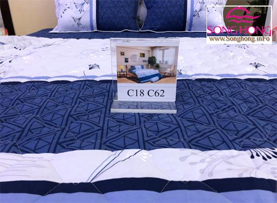 Mẫu chăn ga gối cotton Sông Hồng mã C18-C62