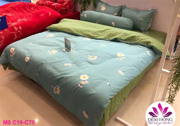 Mẫu chăn ga gối dòng Classic vải cotton chính hãng Sông Hồng mã C19-C70
