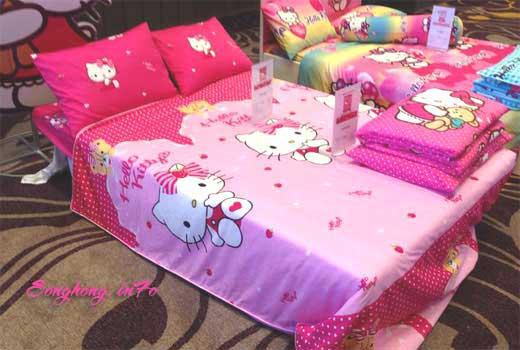 Bộ chăn ga gối Hello Kitty mã K16 - 033