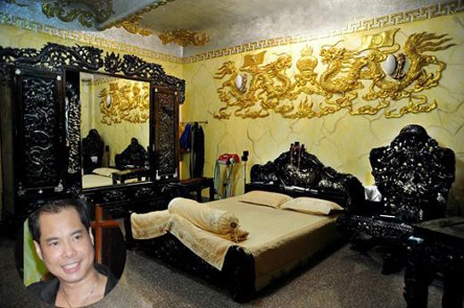 phòng ngủ ca sĩ ngọc sơn