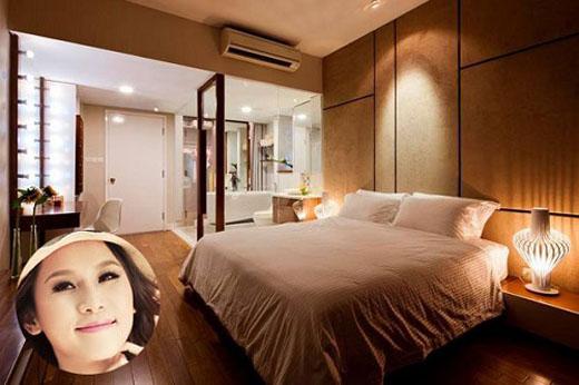phòng ngủ của thái hà