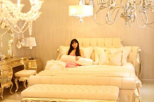 Bộ chăn ga gối phòng cưới của Trang Nhung
