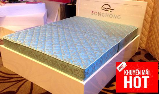 Đệm bông siêu nảy Sông Hồng - siêu khuyến mại kèm quà tặng hấp dẫn