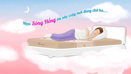 Đệm Sông Hồng đem lại cảm giác bay bổng êm ái cho người sử dụng